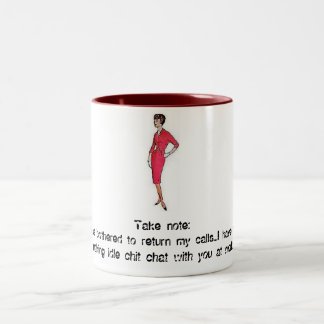 Idle Chit Chat Two-Tone Coffee Mug
