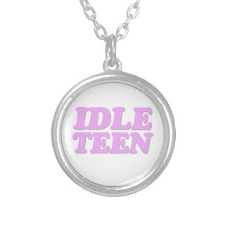 Idle Teen Round Pendant Necklace