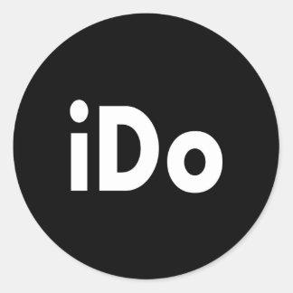iDO Round Sticker