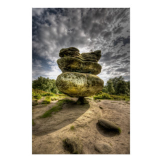 Idol Rock HDR Low Sturation Poster