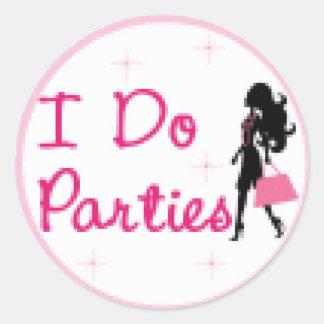 idoparties2 classic round sticker