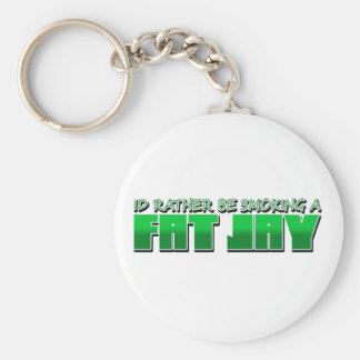 IdRatherBeSmokingaFatJay Basic Round Button Key Ring