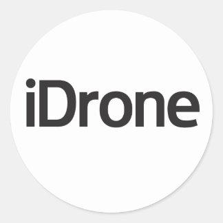 iDrone zone round sticker
