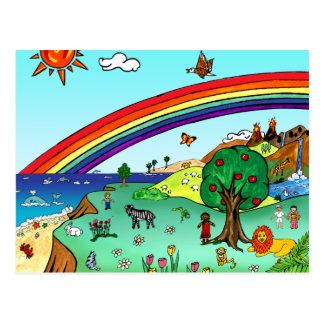 Idyllic Children s Landscape -- Paradise Post Cards