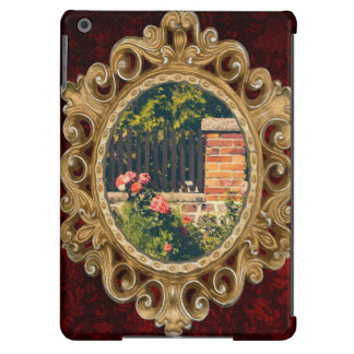 Idyllic Garden With Roses, Wooden Fence iPad Air Cover