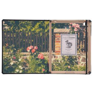Idyllic Garden With Roses, Wooden Fence iPad Folio Cases