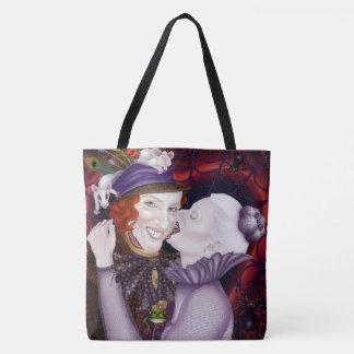Idyllic Horrors Love Story Tote Bag - original art