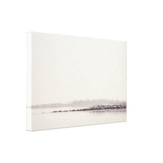 Idyllic landscape with a silent lake canvas print