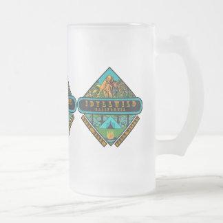 IDYLLWILD CALIFORNIA FROSTED GLASS BEER MUG