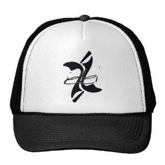 iellei Trucker Hat-Black/White