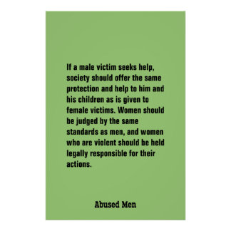 If A Male Victim Seeks Help, Society Should … Poster