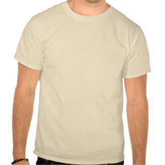 If a man stands alone in the woods, with no one... t shirt