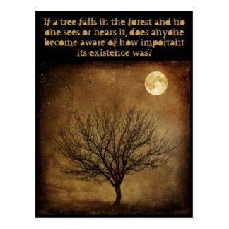 'If a Tree Falls, is Anyone Aware?' Postcard