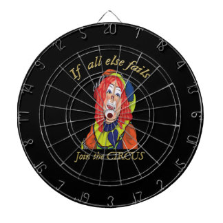 If all else fails join the CIRCUS female clown Dartboard