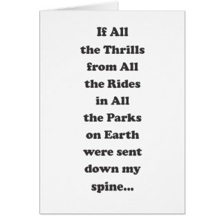 If All the Thrills - Message Inside Card