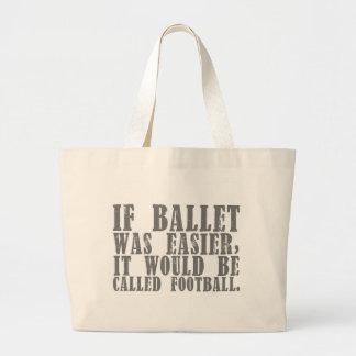If Ballet Was Tote (customizable) Jumbo Tote Bag