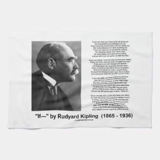If- by Rudyard Kipling Motivational Advice Poem Towels