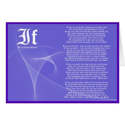 IF by Rudyard Kipling Purple Card