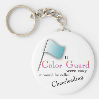 """""""If Color Guard were easy..."""" Key Ring"""