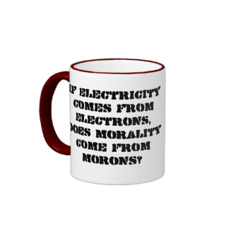 If electricity comes from electrons ... mugs