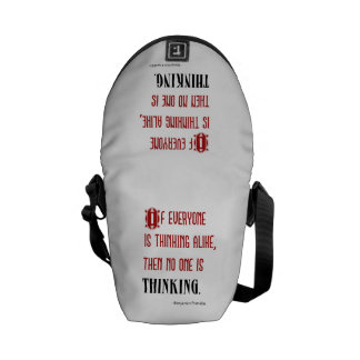 If Everyone Is Thinking Alike - Ben Franklin Quote Commuter Bag
