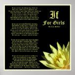 If For Girls Poem by J.P. McEvoy Print