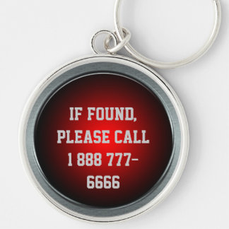 If Found, Call... Big Red Button Keychain