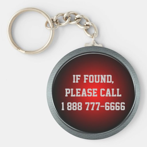 If Found, Call... Red Keychain