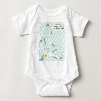 If found, please return to Grand Lake. Baby map Baby Bodysuit