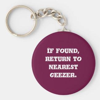 If found, return to nearest geezer. basic round button key ring