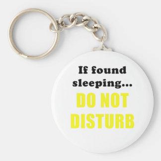 If Found Sleeping Do Not Disturb Key Ring