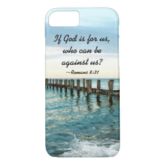 If God is for us who can be against us Romans 8:31 iPhone 8/7 Case