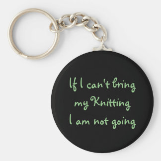 If I can't bring my Knitting... Basic Round Button Key Ring