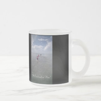 If I could walk on water Frosted Glass Coffee Mug