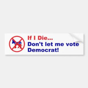 Anti Democrat Bumper Stickers Car Stickers Zazzle Com Au