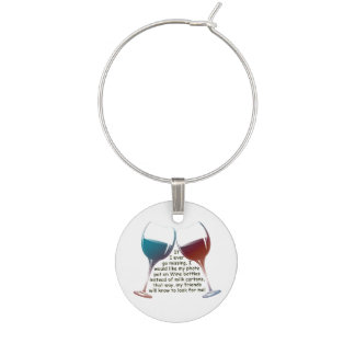 If I ever go missing, fun wine charm