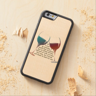 If I ever go missing, fun Wood Phone Case