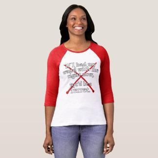 If I Had My Wand women's 3/4 sleeve tee (red)