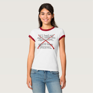 If I Had My Wand women's ringer tee (red)