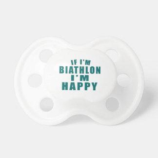 IF I'M BIATHLON I'M HAPPY BABY PACIFIER