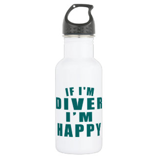 IF I'M DIVER I'M HAPPY 532 ML WATER BOTTLE