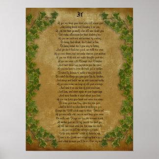 If inspirational poetry by Rudyard Kipling Posters