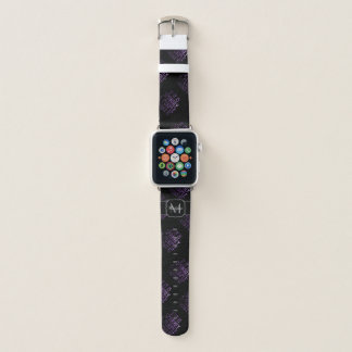 If it is Sparkly and Pink I want it Monogram Black Apple Watch Band
