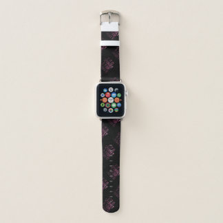 If it is Sparkly and Pink I want it pattern black Apple Watch Band