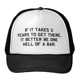 If it takes 3 years it will be one hell of a bar cap