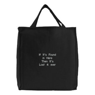 If It's Found in HereThen It's Lost 4 ever Bags