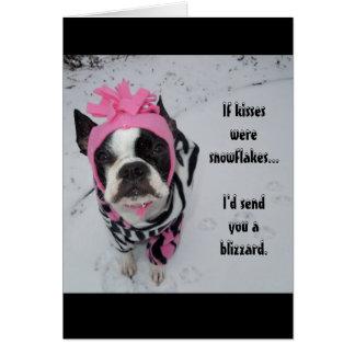 If kisses were snowflakes... Lola B. Boston Card
