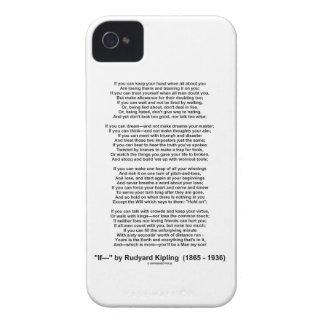 If- Poem by Rudyard Kipling (No Kipling Picture) iPhone 4 Case