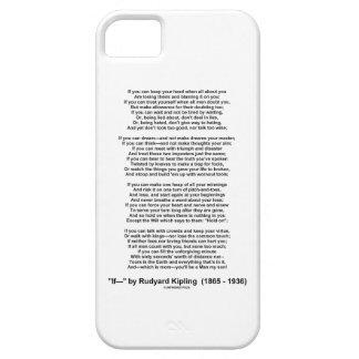 If- Poem by Rudyard Kipling (No Kipling Picture) iPhone 5 Cover