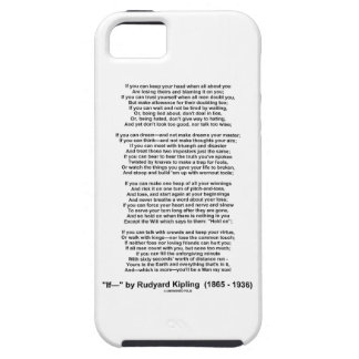 If- Poem by Rudyard Kipling (No Kipling Picture) Case For The iPhone 5